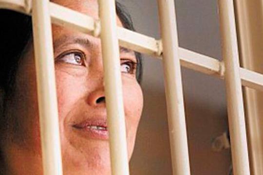 Indígena encarcelada.