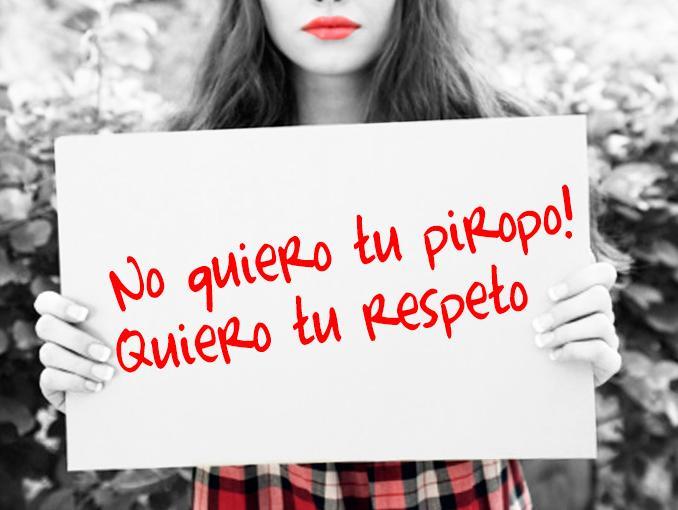 Respeto a la mujer.