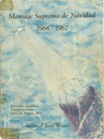 Mensaje de Navidad 1966 - 1967